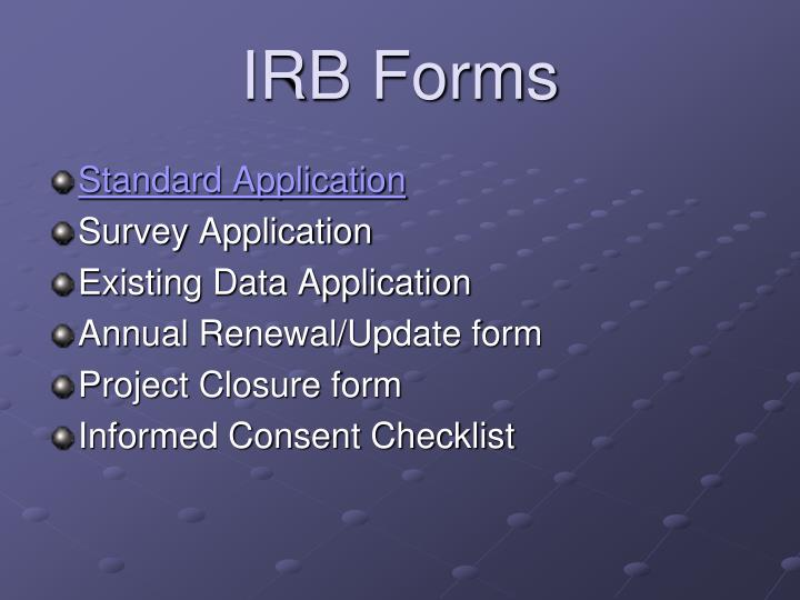 IRB Forms