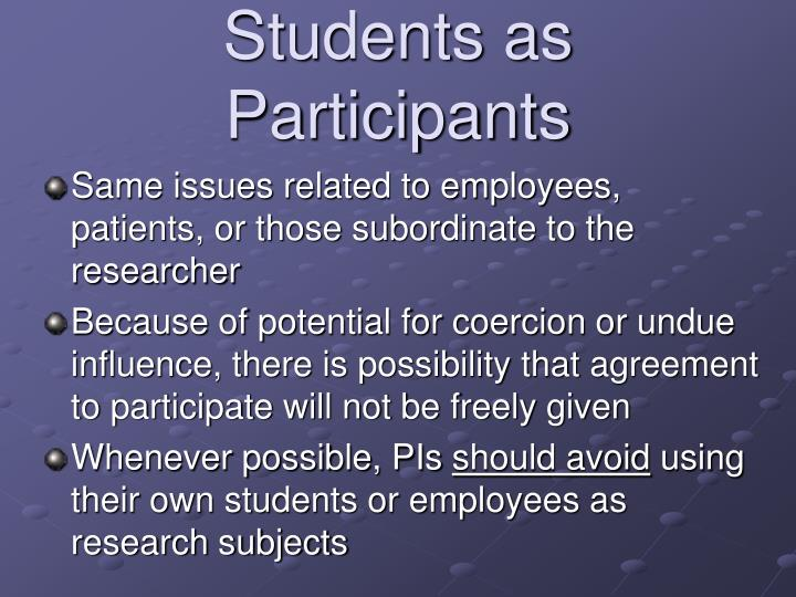 Students as Participants