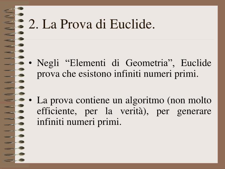 2. La Prova di Euclide.