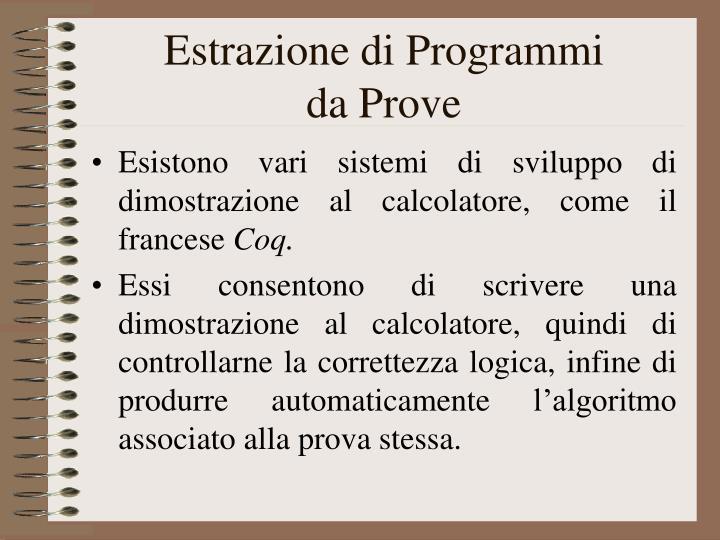Estrazione di Programmi