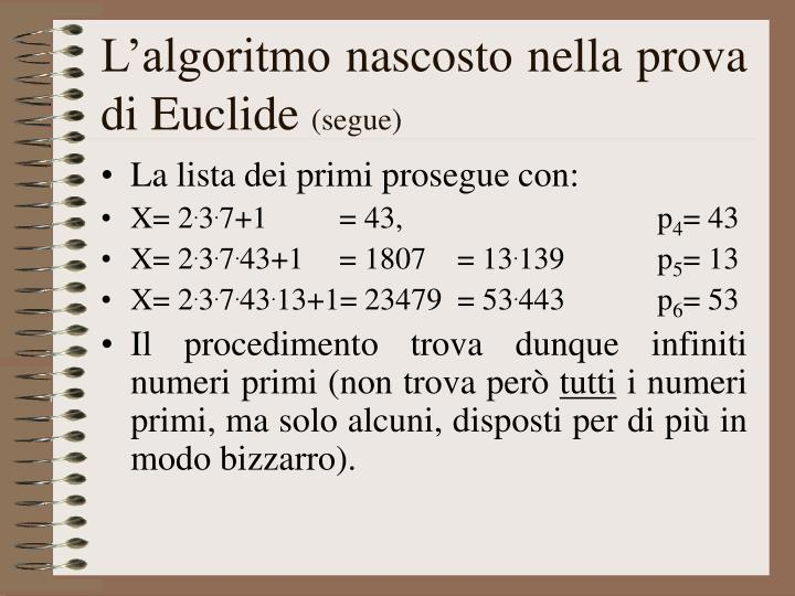 L'algoritmo nascosto nella prova di Euclide