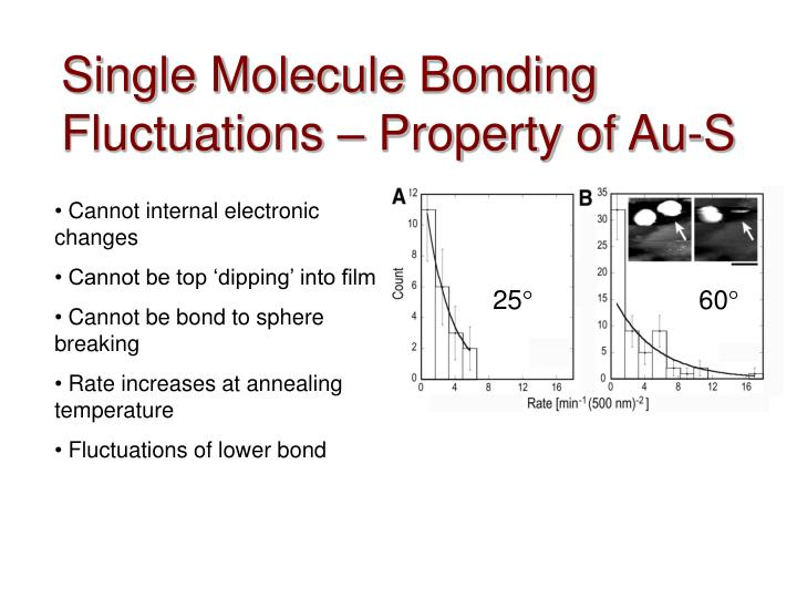 Single Molecule Bonding Fluctuations – Property of Au-S