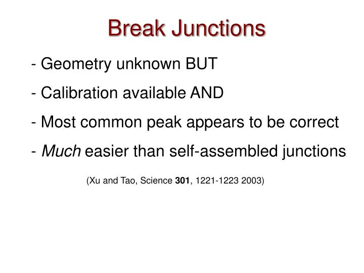 Break Junctions