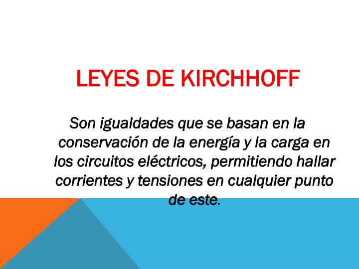 LEYES DE