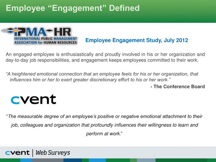 Employee engagement defined