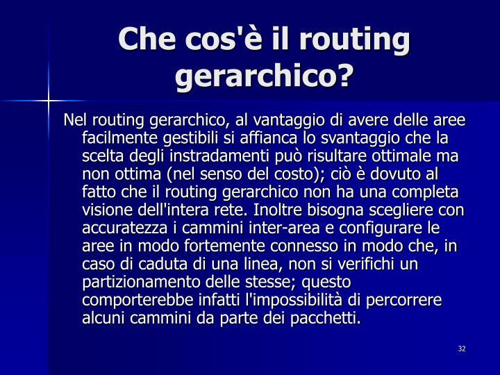Che cos'è il routing gerarchico?