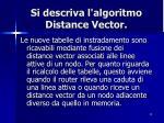 si descriva l algoritmo distance vector2