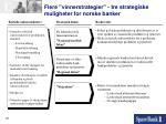 flere vinnerstrategier tre strategiske muligheter for norske banker