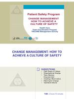 change management how to achieve a culture of safety