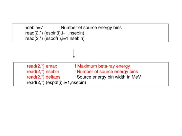 nsebin=7            ! Number of source energy bins