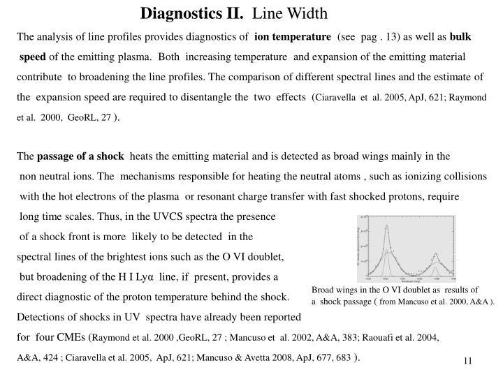 Diagnostics II.
