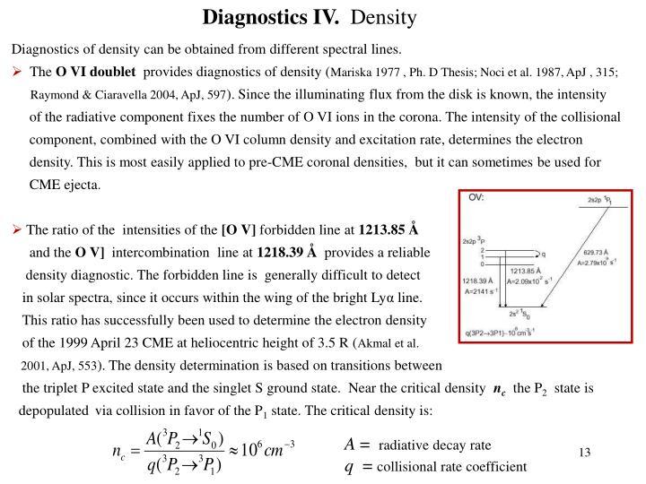 Diagnostics IV.