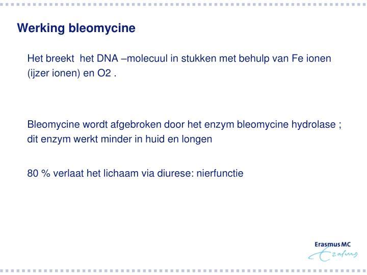 Werking bleomycine