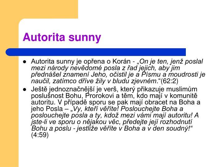 Autorita sunny