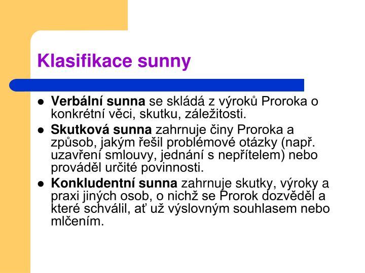 Klasifikace sunny