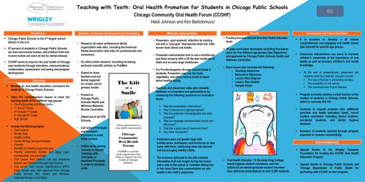 Teaching with Teeth: Oral Health Promotion for Students in Chicago Public Schools