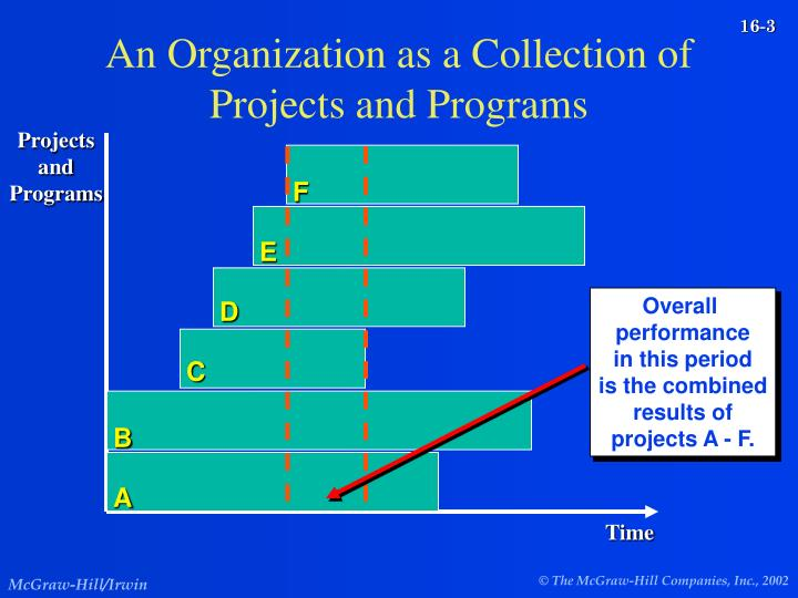 An Organization as a Collection of Projects and Programs