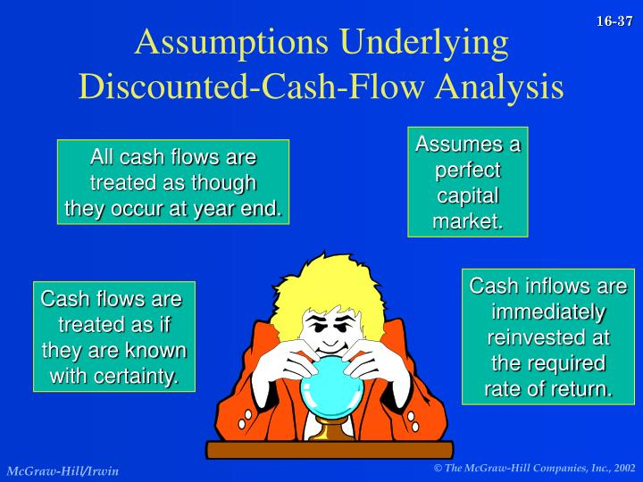 Assumptions Underlying Discounted-Cash-Flow Analysis