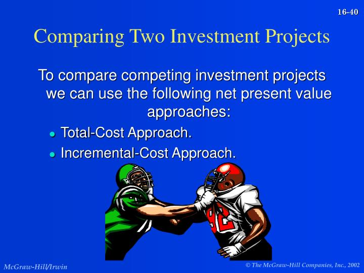 Comparing Two Investment Projects