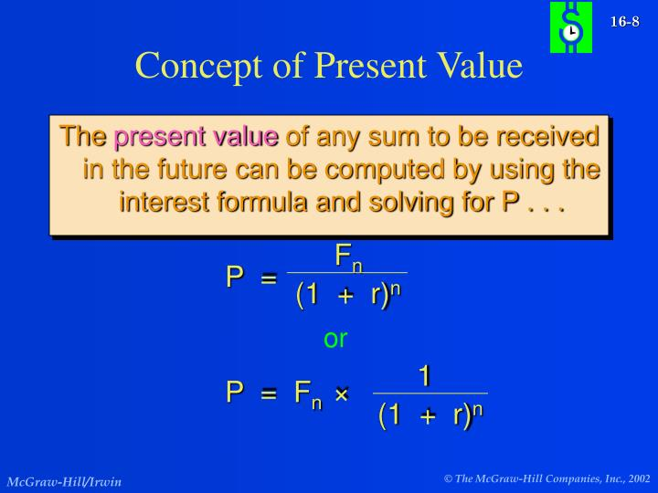 Concept of Present Value
