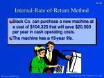 internal rate of return method1