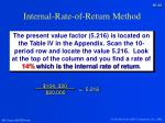 internal rate of return method3
