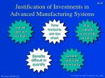 justification of investments in advanced manufacturing systems