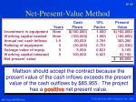net present value method8