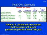 total cost approach2