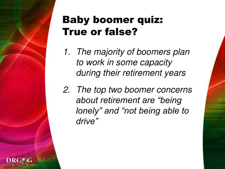 Baby boomer quiz:
