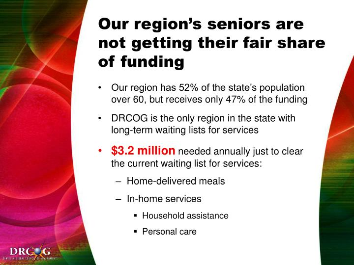 Our region's seniors are not getting their fair share of funding