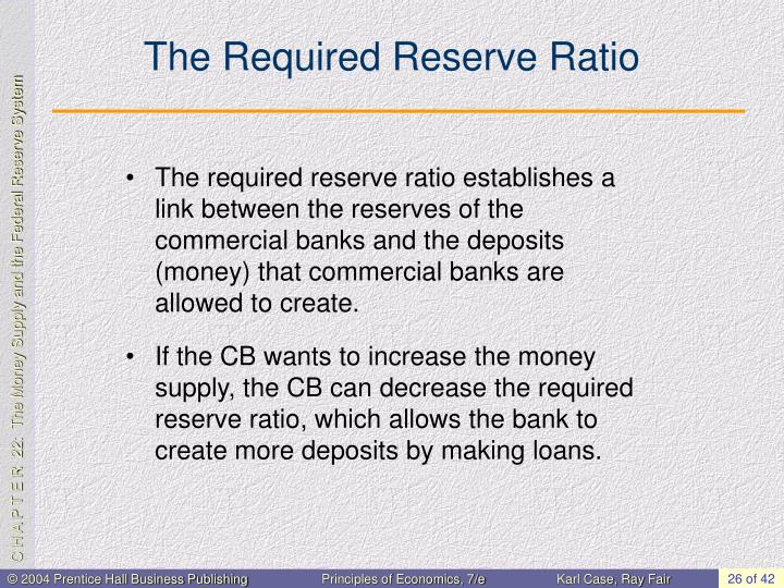The Required Reserve Ratio