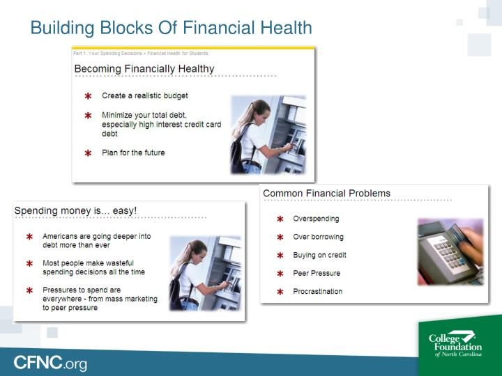 Building Blocks Of Financial Health