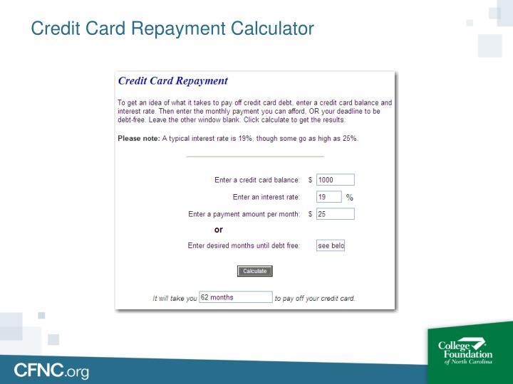 Credit Card Repayment Calculator