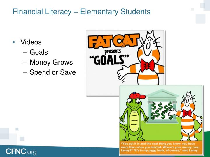 Financial Literacy – Elementary Students