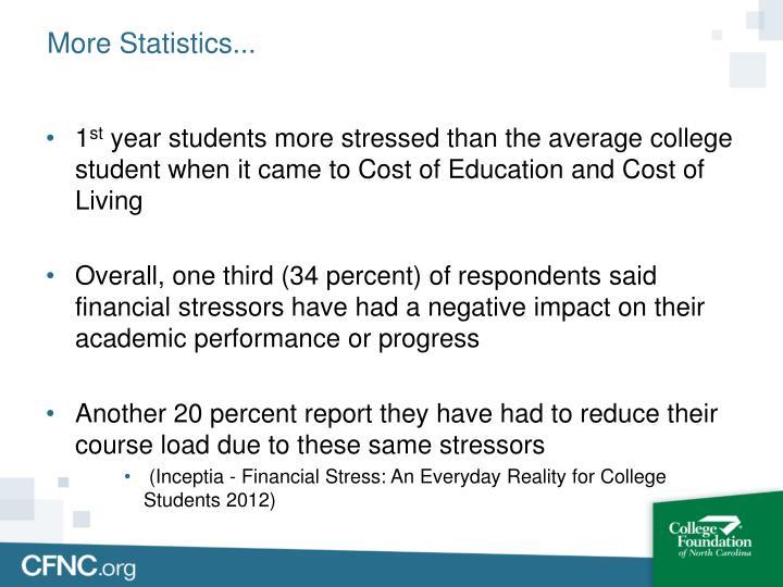 More Statistics...