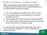 sample survey question jump tart coalition1