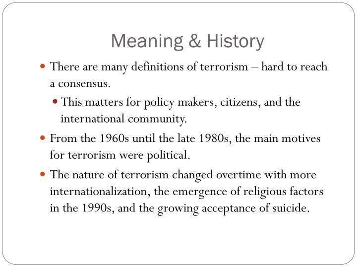 Meaning & History