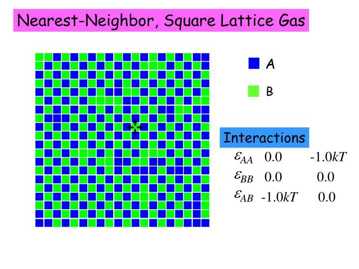 Nearest-Neighbor, Square Lattice Gas