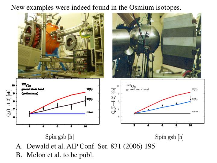 New examples were indeed found in the Osmium isotopes.