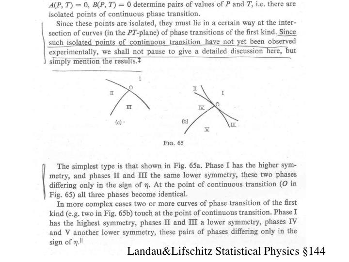 Landau&Lifschitz Statistical Physics §144
