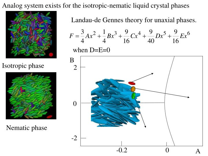 Analog system exists for the isotropic-nematic liquid crystal phases