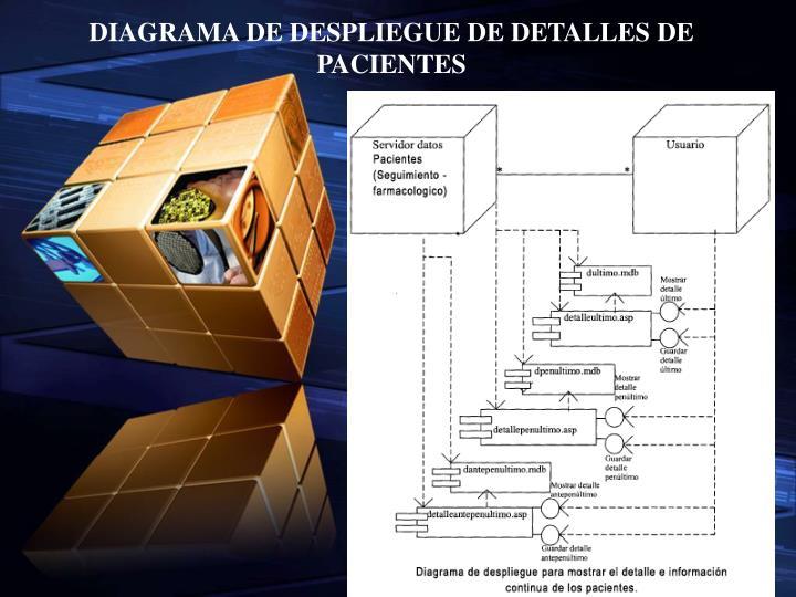 DIAGRAMA DE DESPLIEGUE DE DETALLES DE PACIENTES