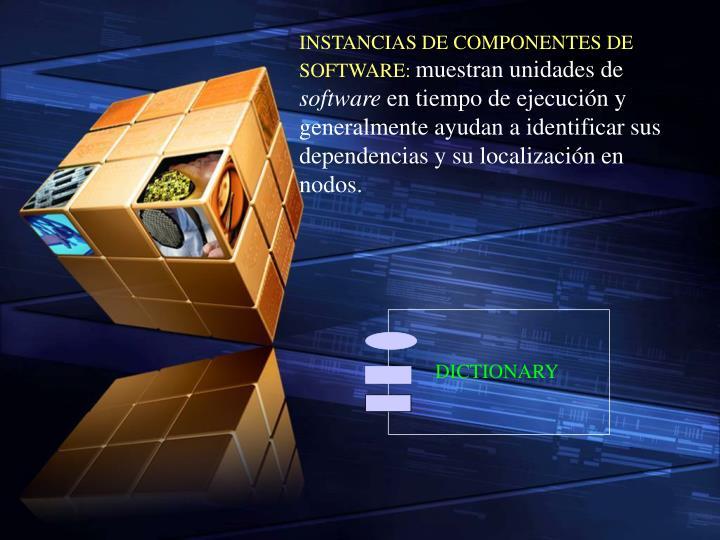 INSTANCIAS DE COMPONENTES DE SOFTWARE: