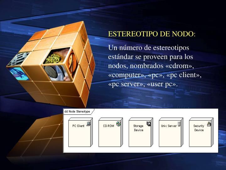 ESTEREOTIPO DE NODO: