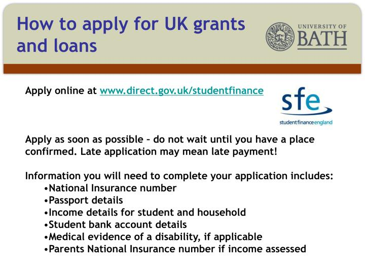 How to apply for UK grants and loans