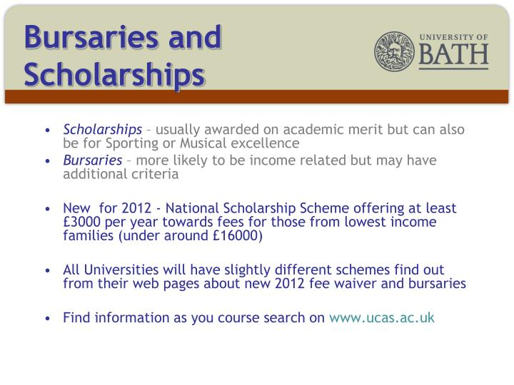 Bursaries and Scholarships