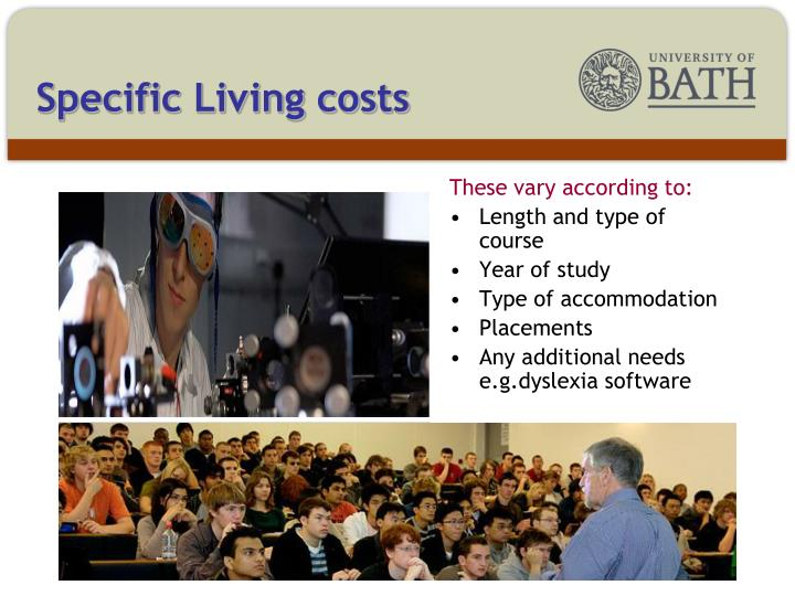 Specific Living costs