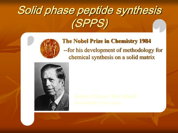 Solid phase peptide synthesis (SPPS)