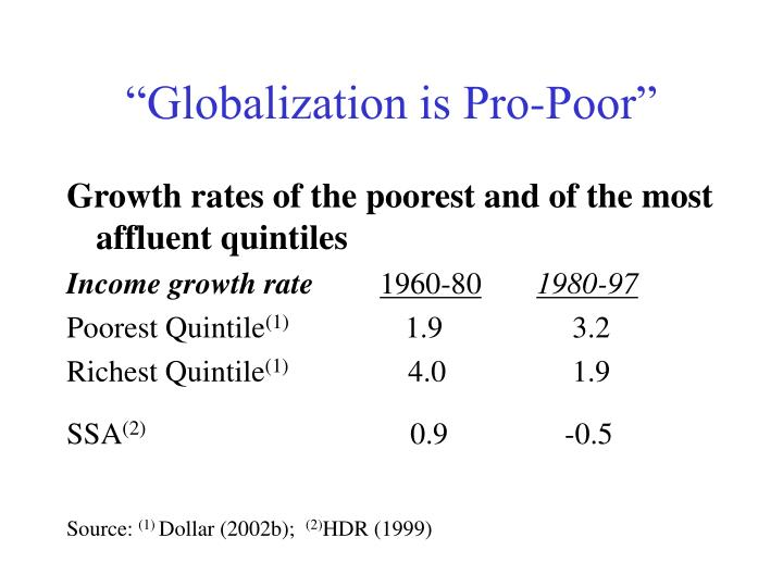 """Globalization is Pro-Poor"""